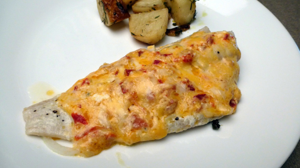 Baked fish with pimento cheese centex cooks for How do you bake fish
